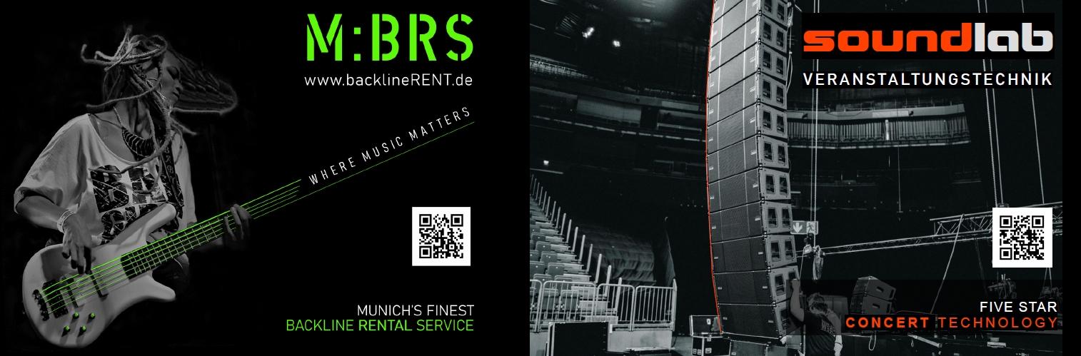 Soundlab Veranstaltungstechnik GmbH, München und M:BRS backlineRENT